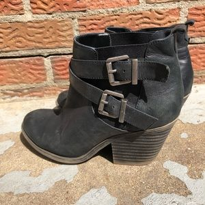 Sole Society Maris Strappy Heeled Ankled Booties